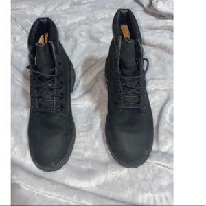 "Timberland Boots 6"" Black  Kids 4.5 Women's  6"